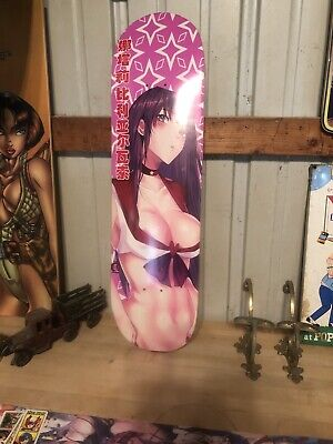 Rare Anime Skateboard Deck With Matching Griptape And Four Hook Ups Stickers