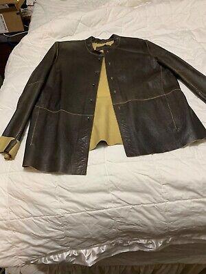 Vintage Emporio armani Leather Jacket sz 52 sz xl