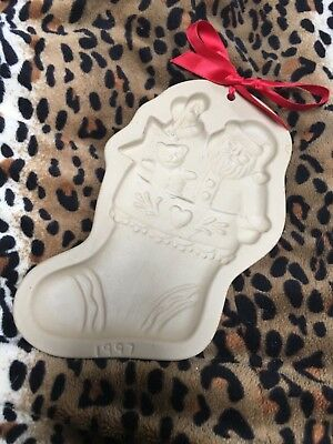 Brown Bag Cookie Mold Santa Stocking Limited Edition 1997 Recipe Booklet Seconds