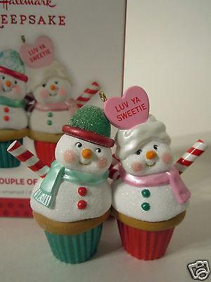 Hallmark Ornament 2013 A Couple of Cupcakes #QXG1882 NEW