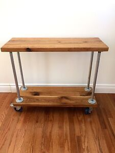Rustic and industrial Bar Cart, hall table, shelf
