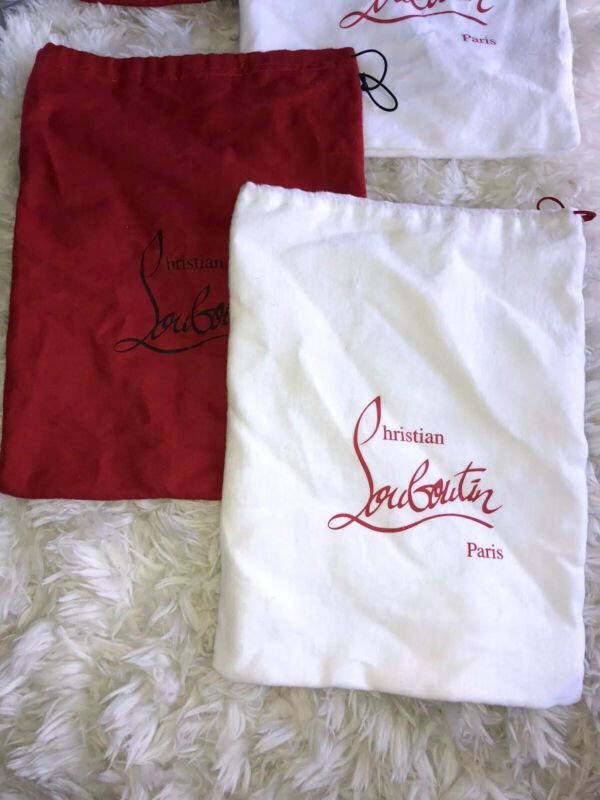 2 Sets Of Authentic Christian Louboutin Shoe/Dust Bags