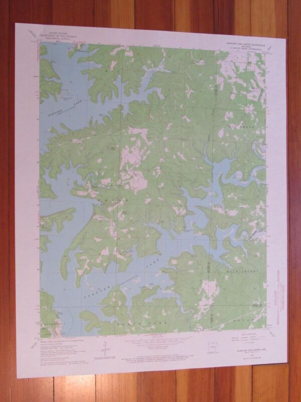 Norfork Dam North Arkansas 1967 Original Vintage USGS Topo Map