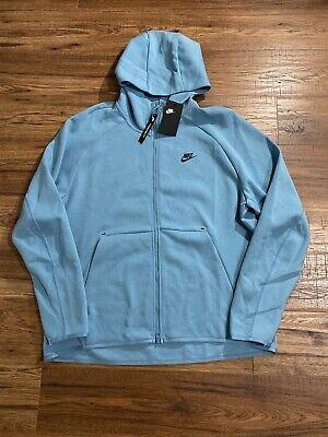Nike Sportwsear Tech Fleece Full Zip Hoodie Blue 928483-424 Men's Size XL