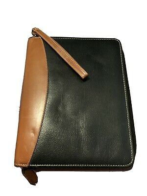 Franklin Covey Quest Blackbrown Leather Classic 1.5-rings Planner Binder Zip