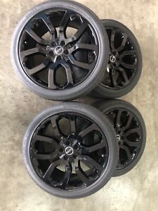 22inch genuine Range Rover wheels and tyres gloss black