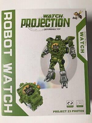 Projection Robot Wrist watch Transformer Toy Green
