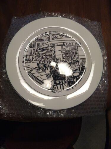 Set of 3 Mikasa Parisian Scenes Dinner Plates, near mint.
