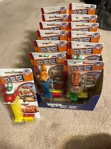 Complete box of 12  PEZ dispensers Disney planes and cars