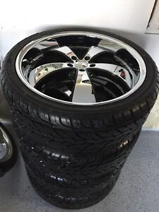 Roues mercedes 22 pouces neuf complet