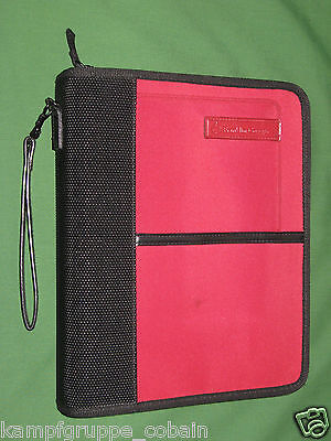 Classic 1.25 Red Nylon Franklin Covey Planner Binder Smart Phone Sport 6002