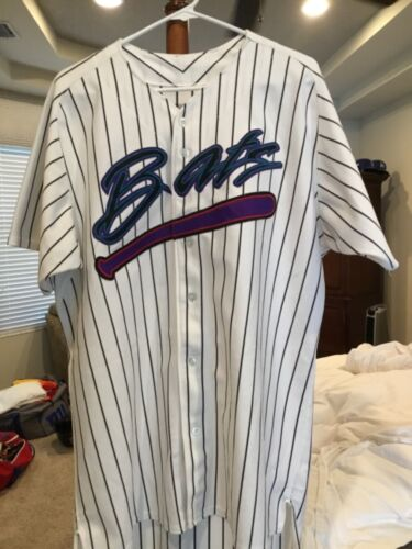 New York Yankees Greensboro Bats Game Used Home Jersey. Size 46