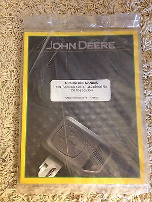 John Deere Operators Manual 430 Serial 12815 460 Serial 13118 Loaders
