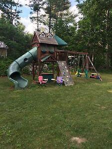 Kids play centre and swing set
