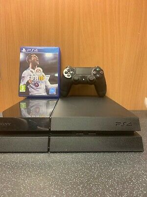 (NE6) Sony Playstation 4 PS4 Console And Fifa 18 Game