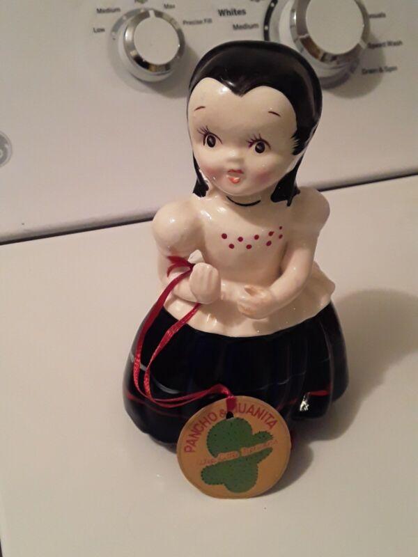 Vintage Kreiss Figurine 1957 Wee Little People Mexican Girl Original Tag
