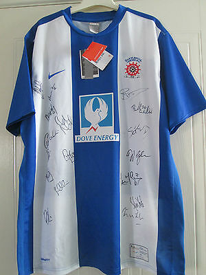 Hartlepool United 2010-2011 Squad Signed Home Football Shirt COA /40601 image
