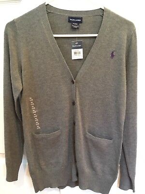 Ralph Lauren big girl cardigan sweater size 16XL in grey color with tag