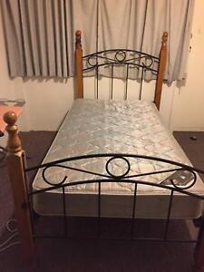 Posturepedic Mattress & Wooden Bed Frame (King Single) Spring Hill Brisbane North East Preview