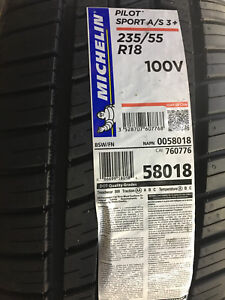 4 new Michelin Pilot Sport AS3+  235/55R18