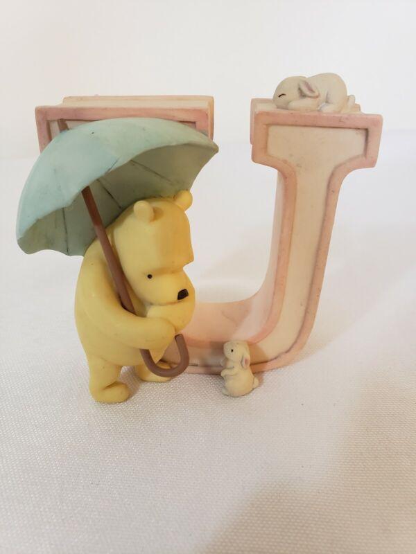 Disney Winnie the Pooh Alphabet LETTER U, Ceramic, Michel & Co. For Nursery