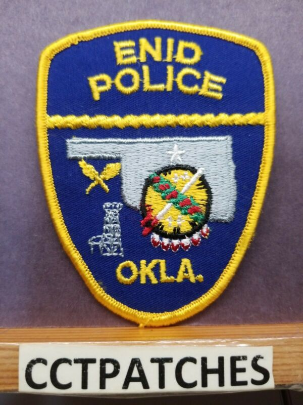 ENID, OKLAHOMA POLICE SHOULDER PATCH OK