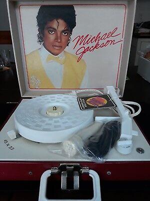 Vintage VF Michael Jackson collectible record player phonograph. Sing along mic](Michael Jackson Microphone)