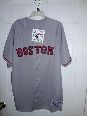 Boston Red Sox  shirt MLB baseball Gray uniform Majestic Athletic Jersey NEW 2XL Boston Red Sox Uniform