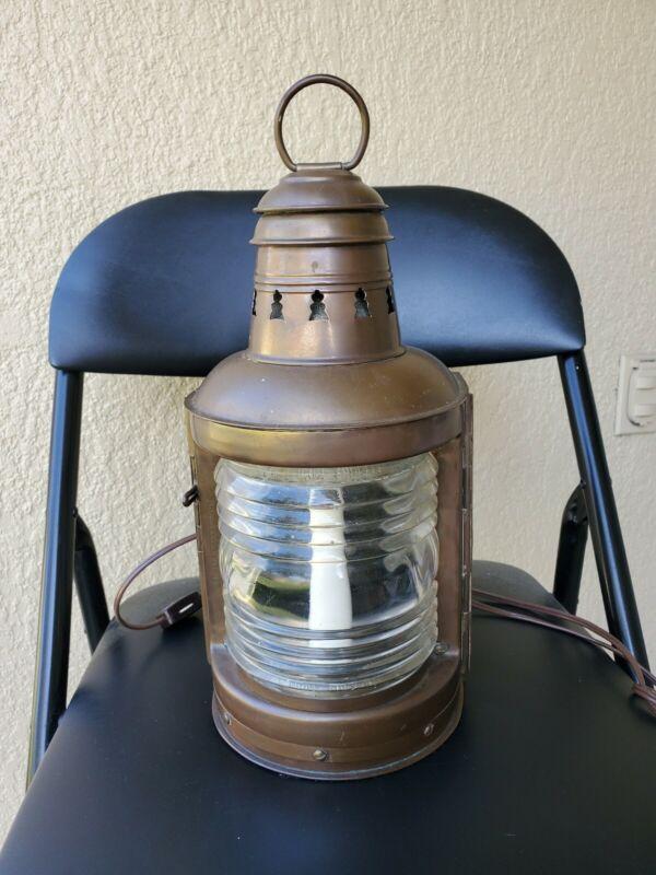 Antique PERKO Perkins Brass Marine lamp ship lantern