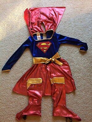 Supergirl Holloween Costume Girls Medium  Excellent - Girl Holloween Costumes