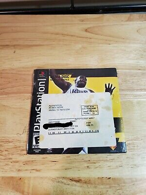 """Sony (PS1) """"PLAYSTATION"""" (NBA SHOOTOUT 2001) DEMO Video Game Disc, NEW! SEALED!"""