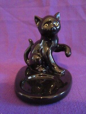 Perfect PartyLite Black Cat Kitten Tealight Candle Holder Halloween Table Decor - Black Kitten Halloween