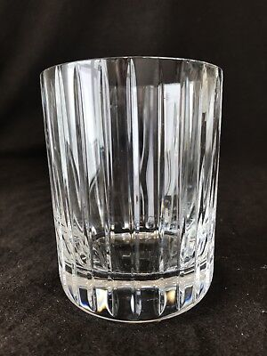 "Baccarat Crystal Harmonie Double Old Fashioned Tumbler Glass 4 1/8"" H French"