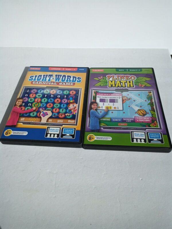 Lakeshore Interactive Activities Math & Sightwords PC/MAC Games  Grades 1 2 3 4