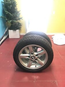 Bmw mags and winter tires 430$ 205/55/16