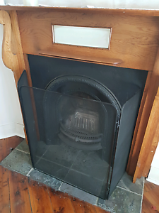Fireplace set - cedar logs, pokers, screen, firestarters Strathfield Strathfield Area Preview