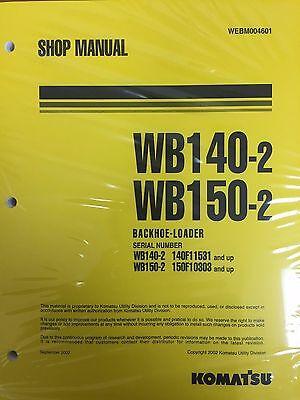 Komatsu Service Wb140-2 Wb150-2 Backhoe Shop Manual