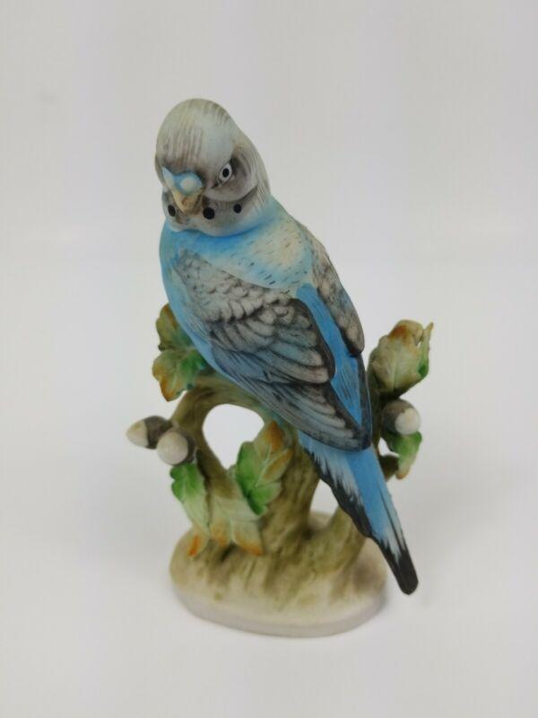 """Parakeet Figurine Lefton Porcelain Sculpture Statue KW464 Lamour 5"""""""