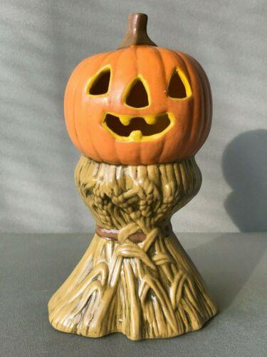 Vintage Jack-O-Lantern Ceramic Pumpkin Decoration Halloween