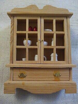 Vintage 90s Wooden Dolls House Dresser