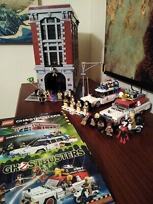 LEGO Ghostbusters Lot 75827 Firehouse, 75828 Ecto-1&2,  21108 Ecto 1, 3 Sets!!!