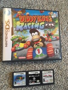 Super Mario,Raving Rabbids 2,Diddy Kong Racing for Nintendo DS