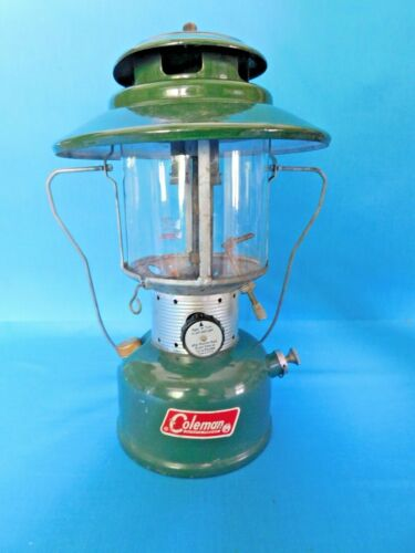 VINTAGE COLEMAN 220F~228F TWO (2) MANTEL GAS LANTERN IN WORKING CONDITION ~1968