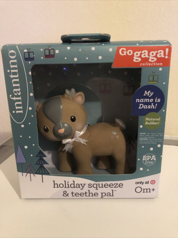 INFANTINO GO GAGA COLLECTION HOLIDAY  SQUEEZE & TEETHE PAL-Brand New!