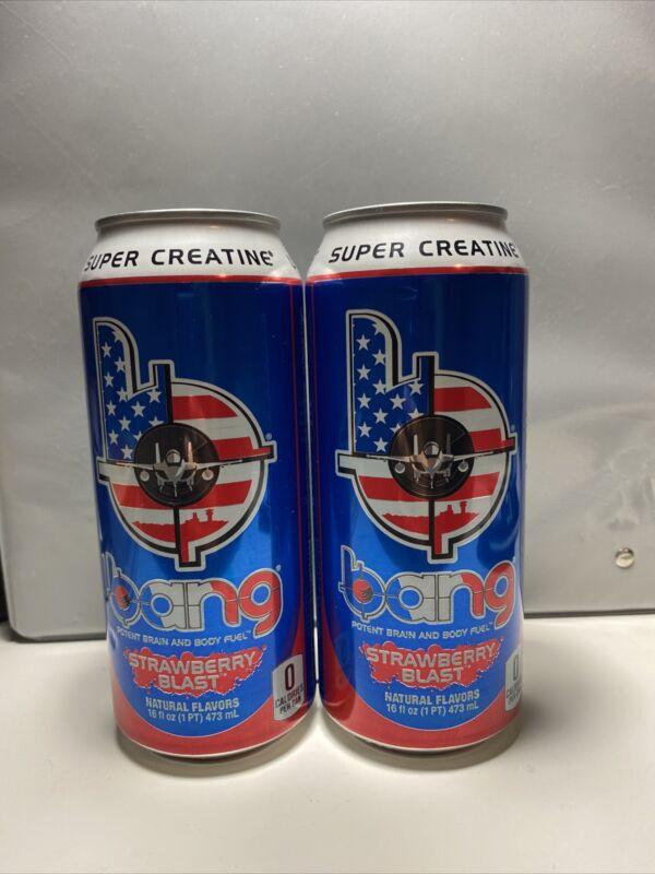 (2) Bang Energy Drinks MILITARY EDITION ~ Strawberry Blast