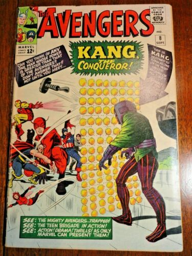 Avengers #8 Hot Silver Age Key VG 1st Kang Ant-Man 3 MCU Movie Marvel Phase 4