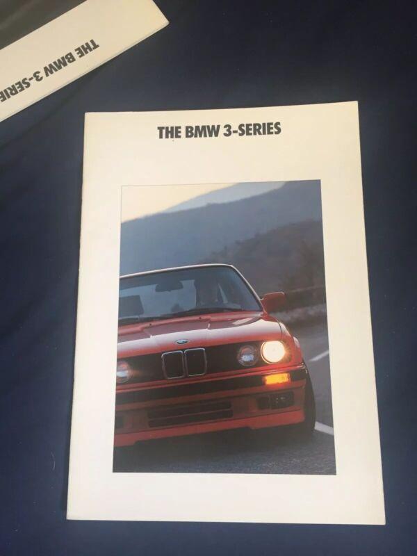1990 BMW 3 Series USA Market Market Color Brochure Prospekt