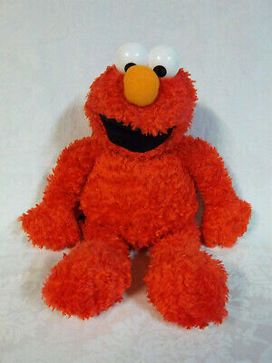"Sesame Street Elmo Small Capacity Backpack 19"" Plush Soft Toy Stuffed Animal"