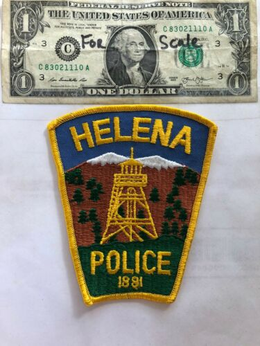 Helena Montana Police Patch in great shape