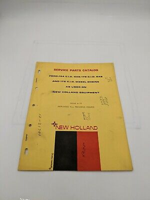 New Holland Service Parts Catalog Ford 134 Gas 172 And Diesel Engine